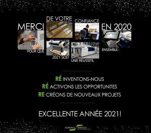 Carte de voeux Komaks France 2021